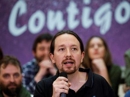 Pablo Iglesias, líder de Podemos y vicepresidente segundo del Gobierno, durante un acto del partido.