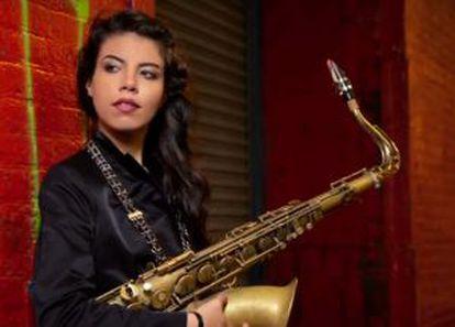 La saxofonista Melissa Aldana
