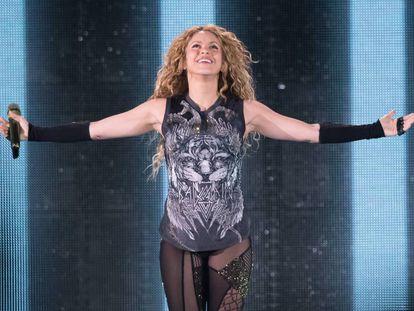 Shakira durante un concierto en el Madison Square Garden de Nueva York en agosto de 2018.