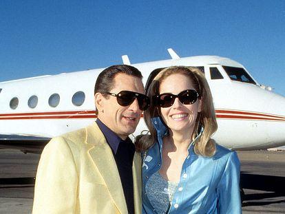 Robert De Niro y Sharon Stone en el plató de la película de Martin Scorsese 'Casino'.