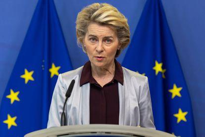 La presidenta de la Comisión Europea, Ursula von der Leyen, el 24 de noviembre de 2020 en Bruselas.