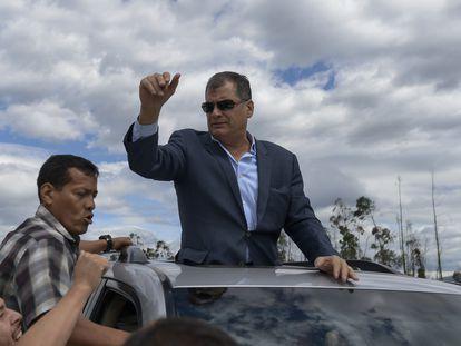 El expresidente de Ecuador, Rafael Correa, en Quito, en 2017.