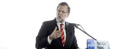 Rajoy, durante su intervención en el acto del PP en Valencia.