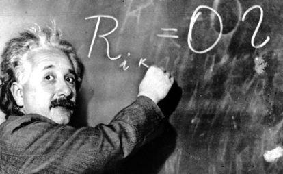 Albert Einstein, fotografiada en el Instituto Carnegie de California, en 1931.