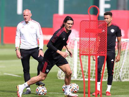 El uruguayo Cavani, con el Manchester United.