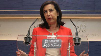 La portavoz parlamentaria del PSOE, Margarita Robles.
