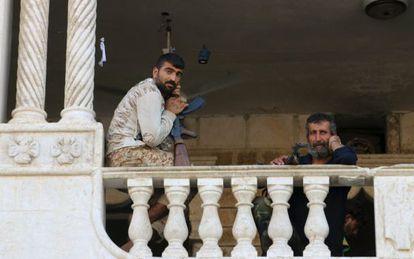 Rebeldes sirios, a finales de julio en Alepo