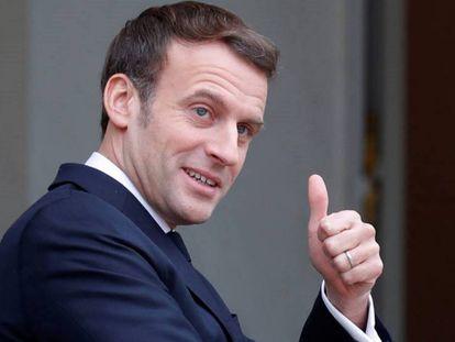 El presidente Emmanuel Macron, el pasado viernes en el Elíseo, en París.