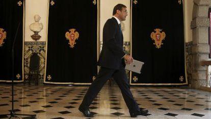 El primer ministro de Portugal, Pedro Passos Coelho.