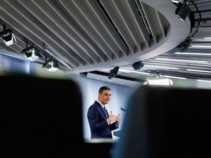 El presidente del Gobierno, Pedro Sánchez, el martes en la rueda posterior al Consejo de Ministros.