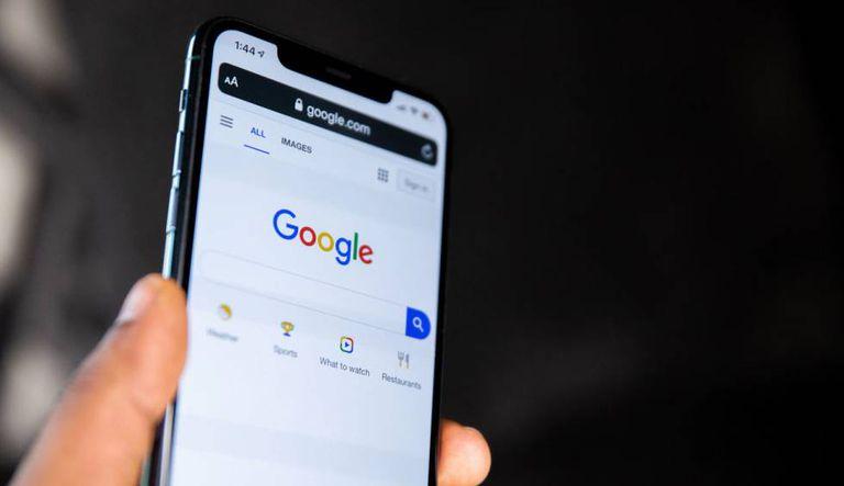 Buscador de Google en un iPhone, en una imagen de archivo.