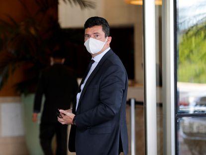 El exministro de Justicia y exjuez de la operación Lava Jato, Sergio Moro, en Brasilia.