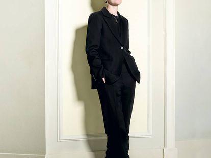 Jo Ellison posa para ICON en Madrid, donde acudió para arrojar luz sobre moda, lujo y la prensa de moda y lujo.