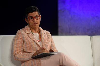 La exministra de Exteriores Arancha González Laya, el pasado sábado durante su intervención en un acto en Segovia.