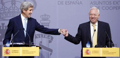 John Kerry y José Manuel García-Margallo, en octubre.