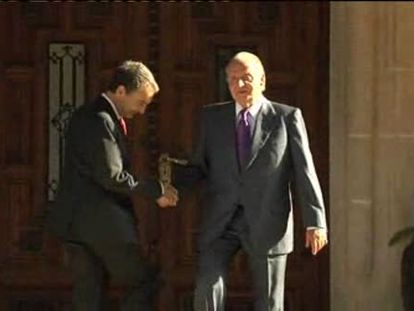 El último despacho de Zapatero con el Rey en Marivent