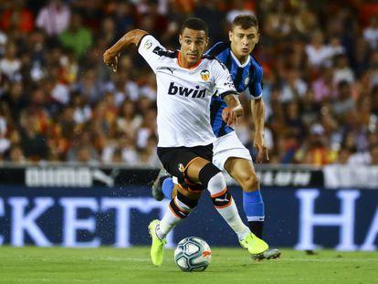 Rodrigo Moreno durante el amistoso contra el Inter.
