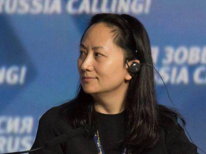 Meng Wanzhou, en un foro sobre tecnología en Rusia en 2014.