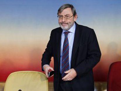 Lissavetzky, durante la presentación de las conclusiones de la comisión de investigación de la tragedia del Madrid Arena.