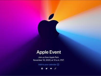 Anuncio del evento de Apple