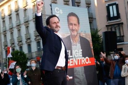 Edmundo Bal durante la presentación de la campaña de Ciudadanos en la plaza de Ópera.