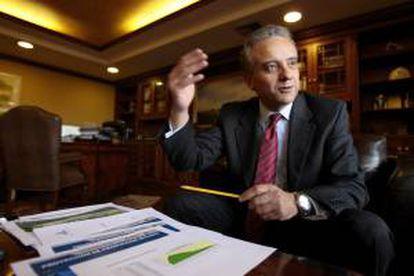 En la imagen, el gerente de la petrolera estatal ecuatoriana Petroamazonas, Oswaldo Madrid. EFE/Archivo