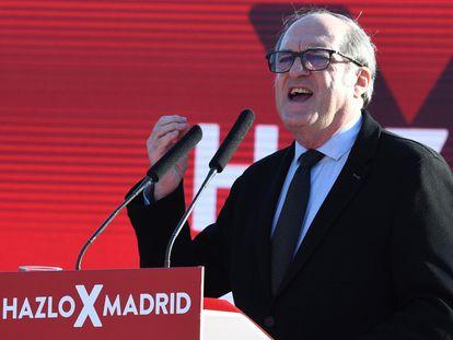 Ángel Gabilondo, durante el acto de arranque de campaña del PSOE.