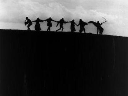 Fotograma de El séptimo sello (1957), de Ingmar Bergman.