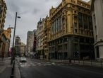 Streets is pictured almost empty  amid the coronavirus disease (COVID-19) outbreak, in Madrid, Spain March 31, 2020