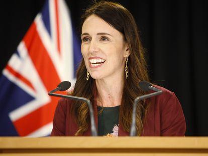 Jacinda Ardern, en una conferencia en Wellington, Nueva Zelanda, en enero de 2020.
