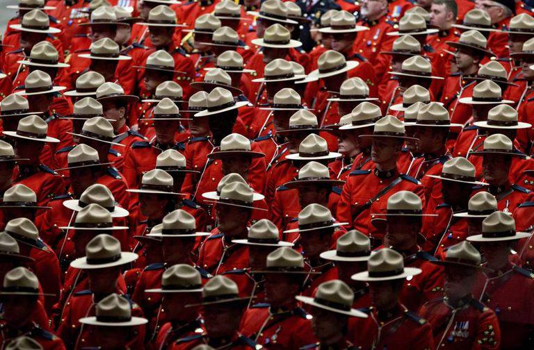 Miembros de la Real Policía Montada de Canadá, en una imagen de archivo