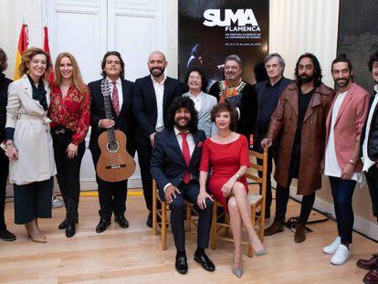 Algunos de los participantes en la 14ª edición de Suma Flamenca, este jueves en Madrid.