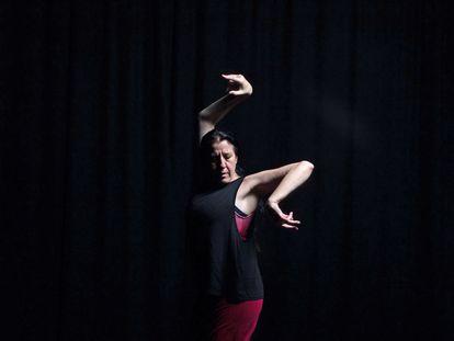La bailaora María Pagés ensaya 'Siete golpes y un camino'.