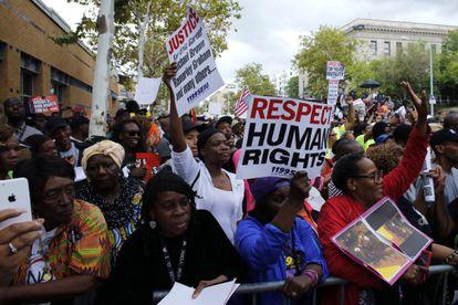 Protestas en Nueva York por la violencia policial, este sábado