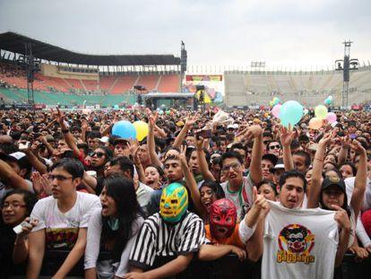 El público en la edición 2019 del festival Vive Latino, que se celebra este fin de semana en Ciudad de México.