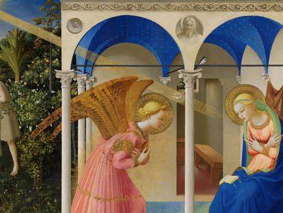 La Anunciación, de Fra Angelico, en el Museo del Prado.