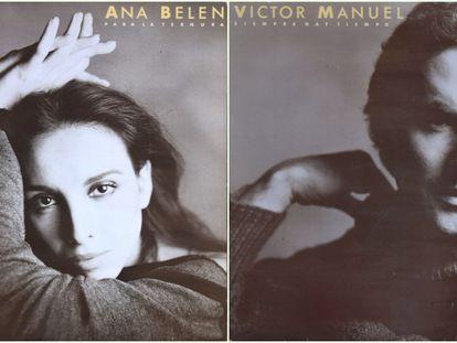 Portada del disco 'Para la ternura siempre hay tiempo' (1984), de Ana Belén y Víctor Manuel.