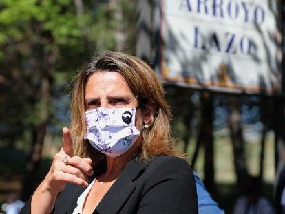 La vicepresidenta tercera y ministra para la Transición Ecológica, Teresa Ribera, el viernes en Toledo.