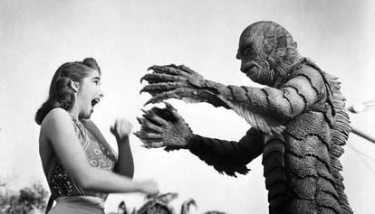 Fotograma de 'La mujer y el monstruo', de Jack Arnold.