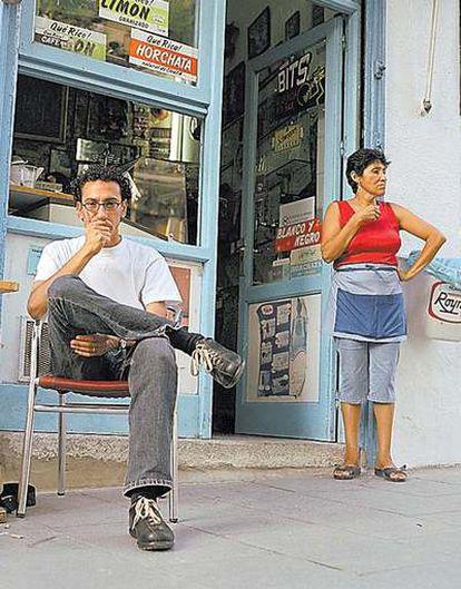 El cineasta Basel Ramsis en Lavapiés en una imagen de 2003.