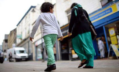 Una calle de Bradford, de donde proceden las hermanas desaparecidas.