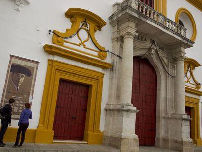 Puerta del Príncipe de la Plaza de toros de la Maestranza de Sevilla.