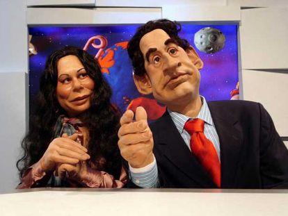 Los guiñoles de Isabel Pantoja y Nicolas Sarkozy.