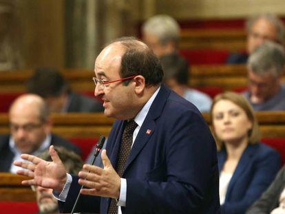 El presidente del grupo parlamentario del PSC, Miquel Iceta.