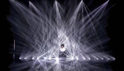 La instalación de luz y sonido de Daito Manabe para Sonar Planta, la principal apuesta artística del festival.