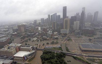 Foto aérea de Houston, el martes.