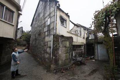 Vivienda destruida de José Pereira en Saa (Carballeda de Avia).