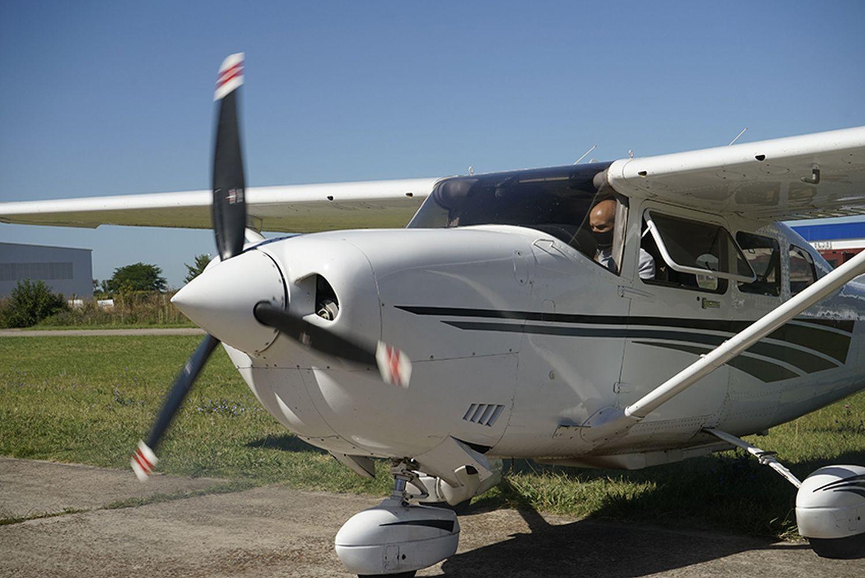 Avioneta usada para el escaneo láser de Campo de Mayo.