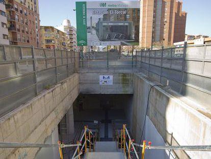 Obras del metro de Málaga, en una foto de archivo.