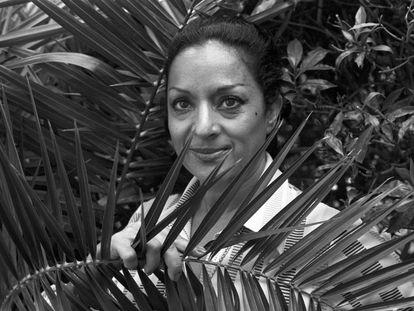 Lola Flores, en Marbella en 1975.